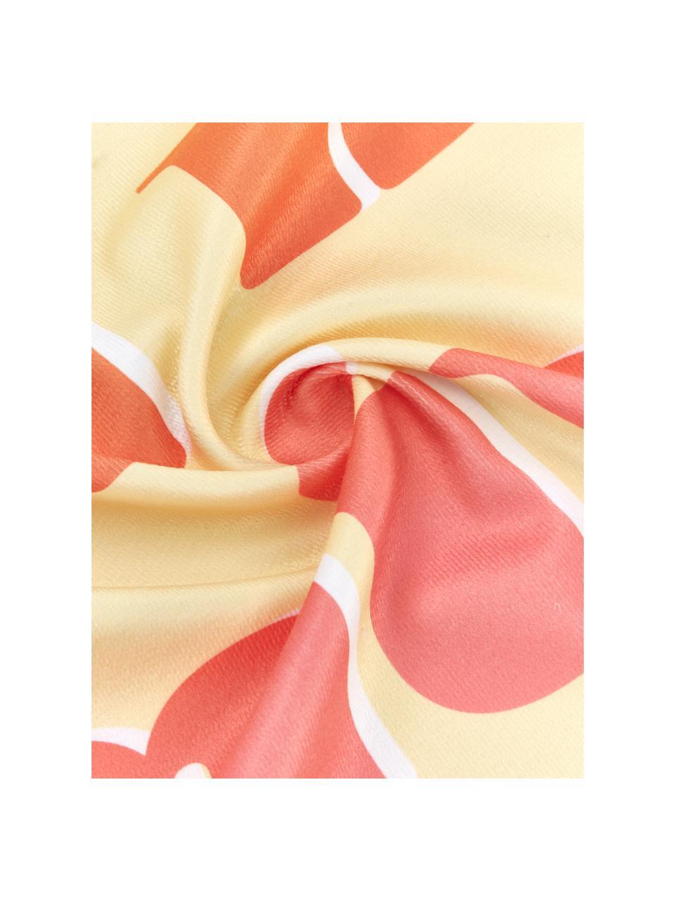 Ręcznik plażowy Sunshine, 55% poliester, 45% bawełna Bardzo niska gramatura, 340 g/m², Żółty, wielobarwny, S 70 x D 150 cm