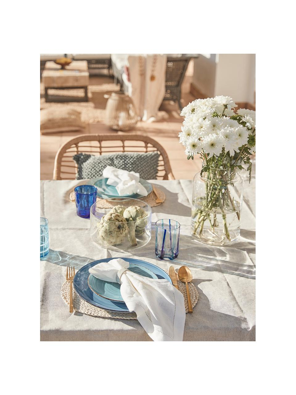 Service de table Baita, 6 personnes (18élém.), Tons bleus