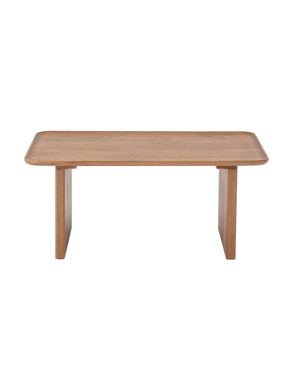 Table basse bois de chêne Rhys, Brun