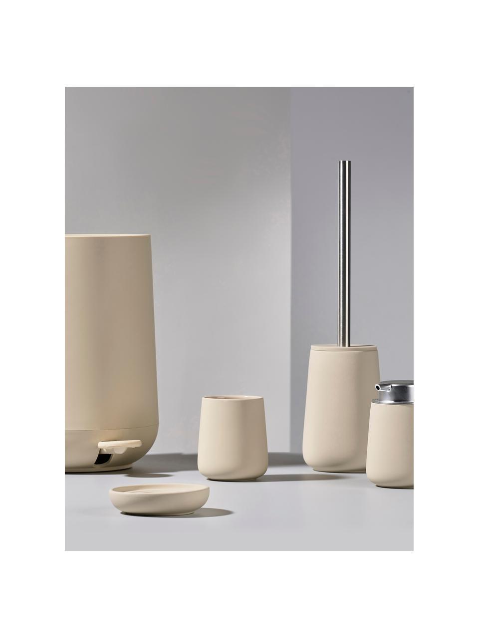 Porzellan-Seifenschale Nova One, Porzellan, Beige, Ø 11 x H 3 cm