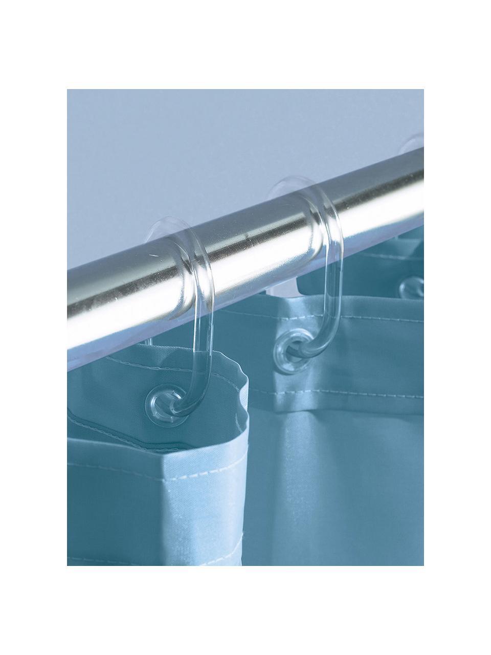 Anneaux de rideau de douche transparents Crystal, 12 pièces, Transparent