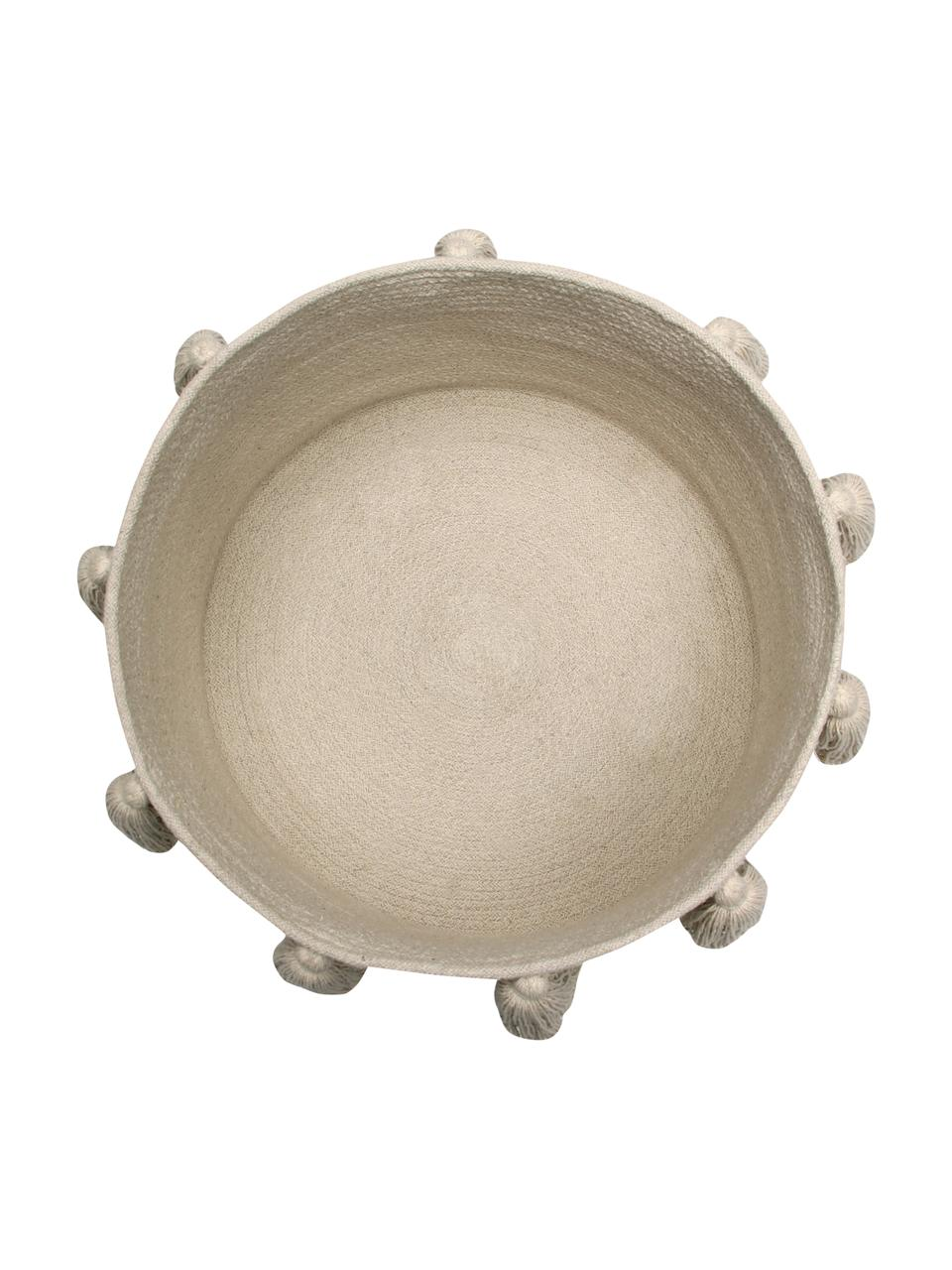 Cesto Tassels, 97% cotone, 3% cotone riciclato, Beige, Ø 45 x Alt. 30 cm
