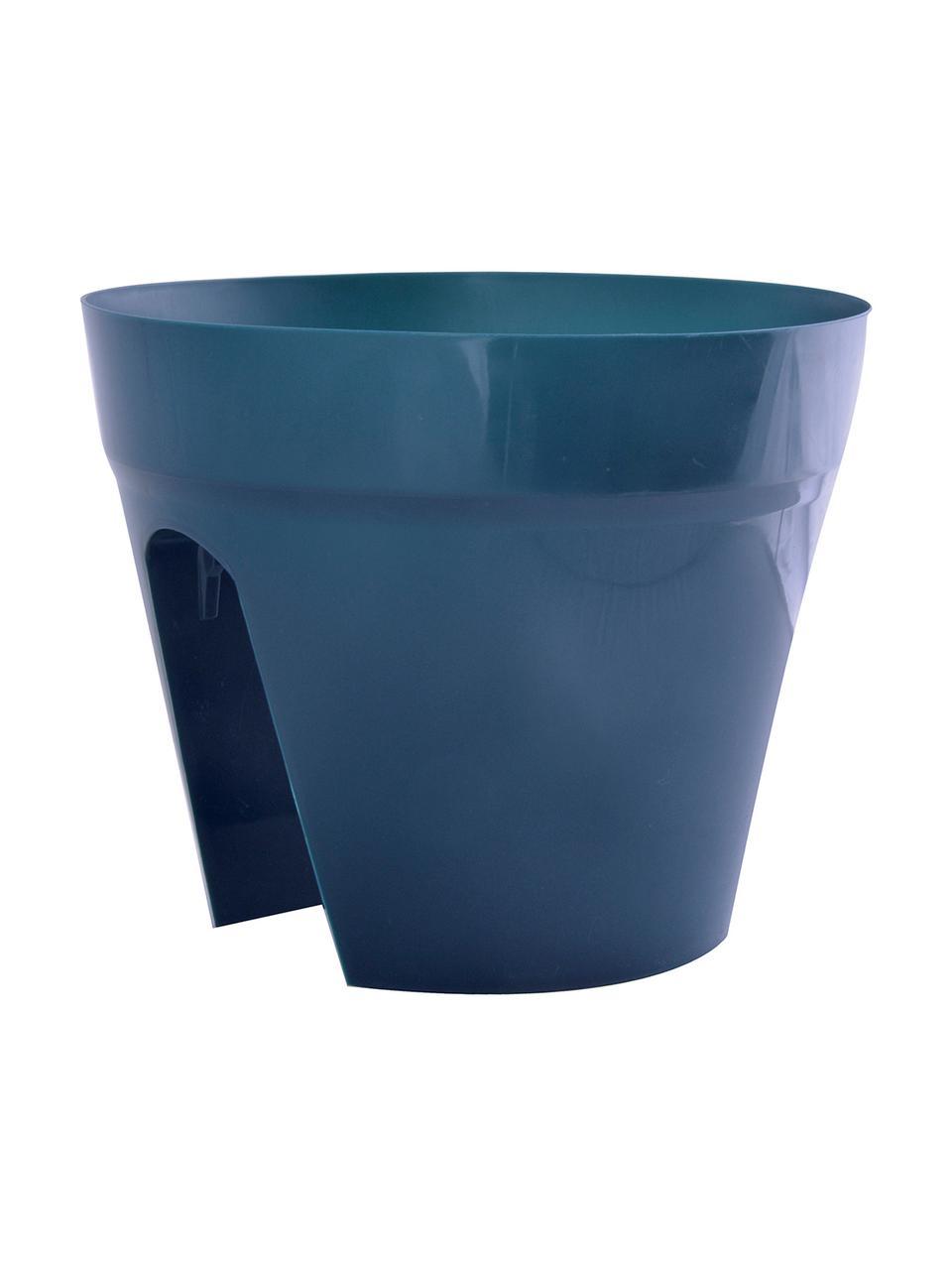 Großes Übertopf-Set für Balkongeländer Diana, 3-tlg., Kunststoff, Grün, Orange, Blau, Ø 30 x H 24 cm