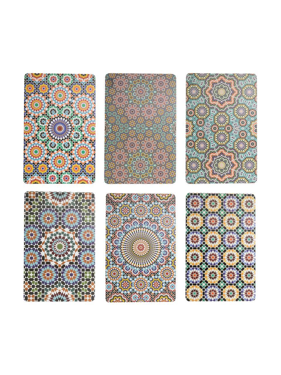 Set de table orientale Marrakech Doubleface, 6élém., Multicolore