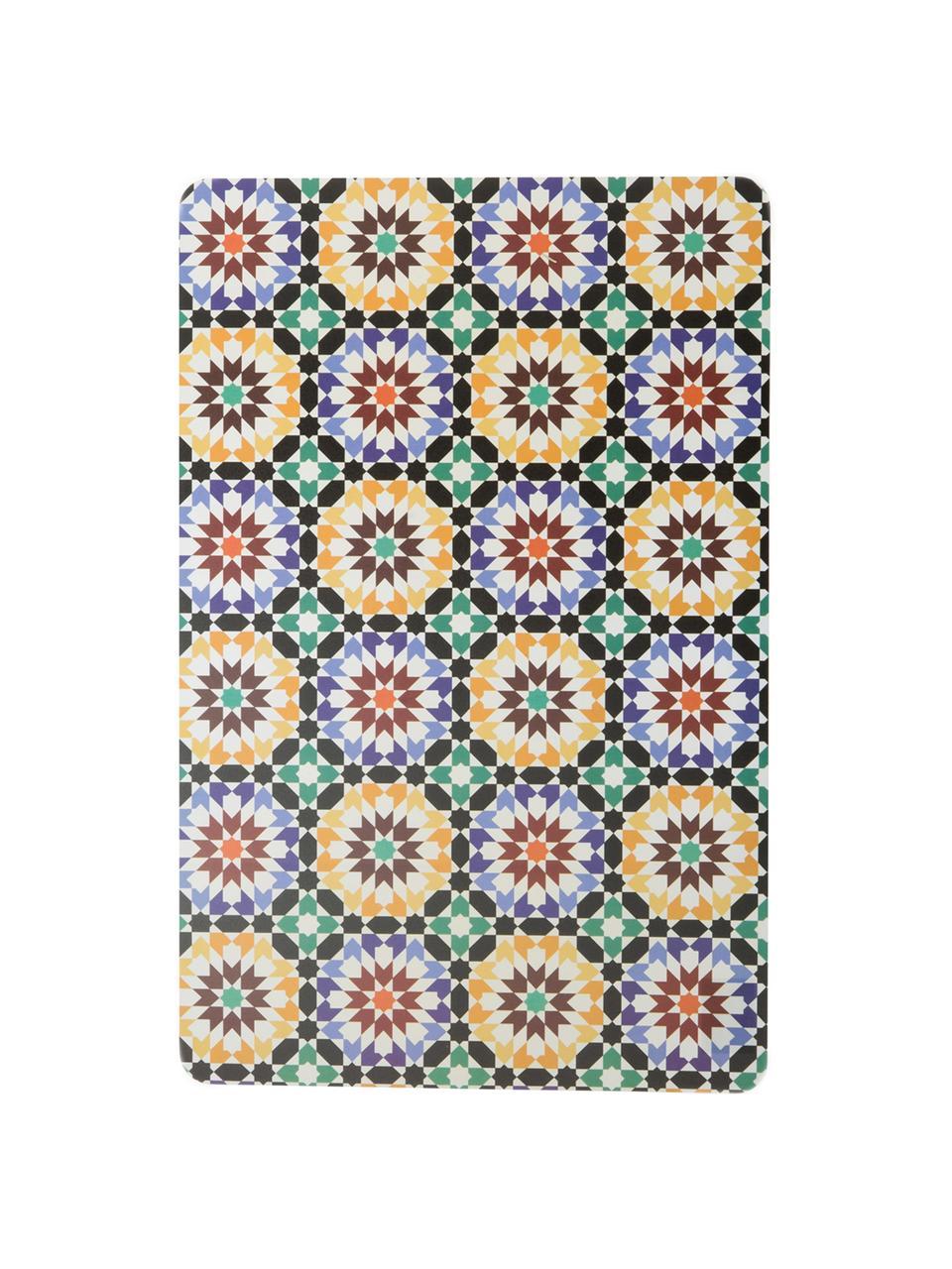 Beidseitig bedruckte Kunststoff Tischsets Marrakesch Doubleface, 6er Set, Kunststoff, Mehrfarbig, 30 x 45 cm
