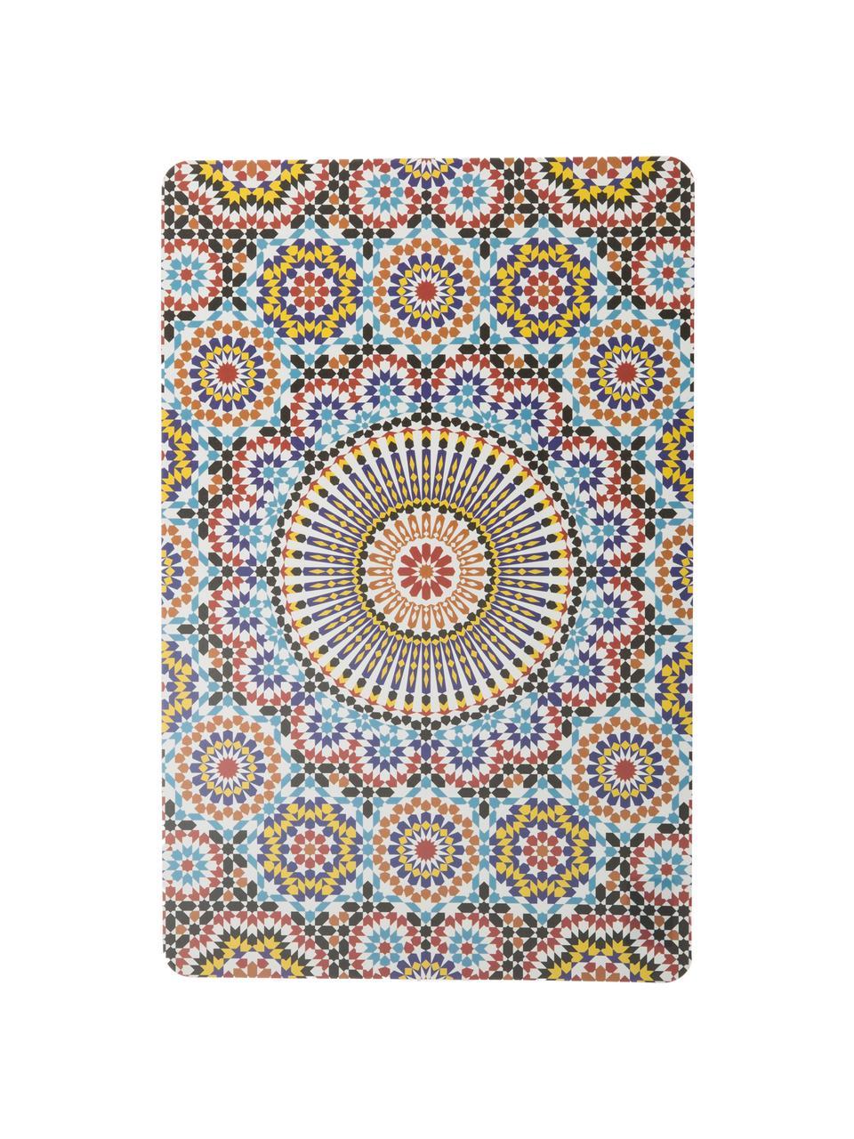Set 6 tovagliette americane in plastica Marrakech Doubleface, Materiale sintetico, Multicolore, Larg. 30 x Lung. 45 cm