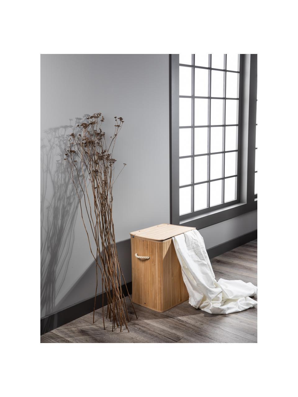 Wäschekorb Brimsdown, Korb: Bambus, Braun, 41 x 50 cm