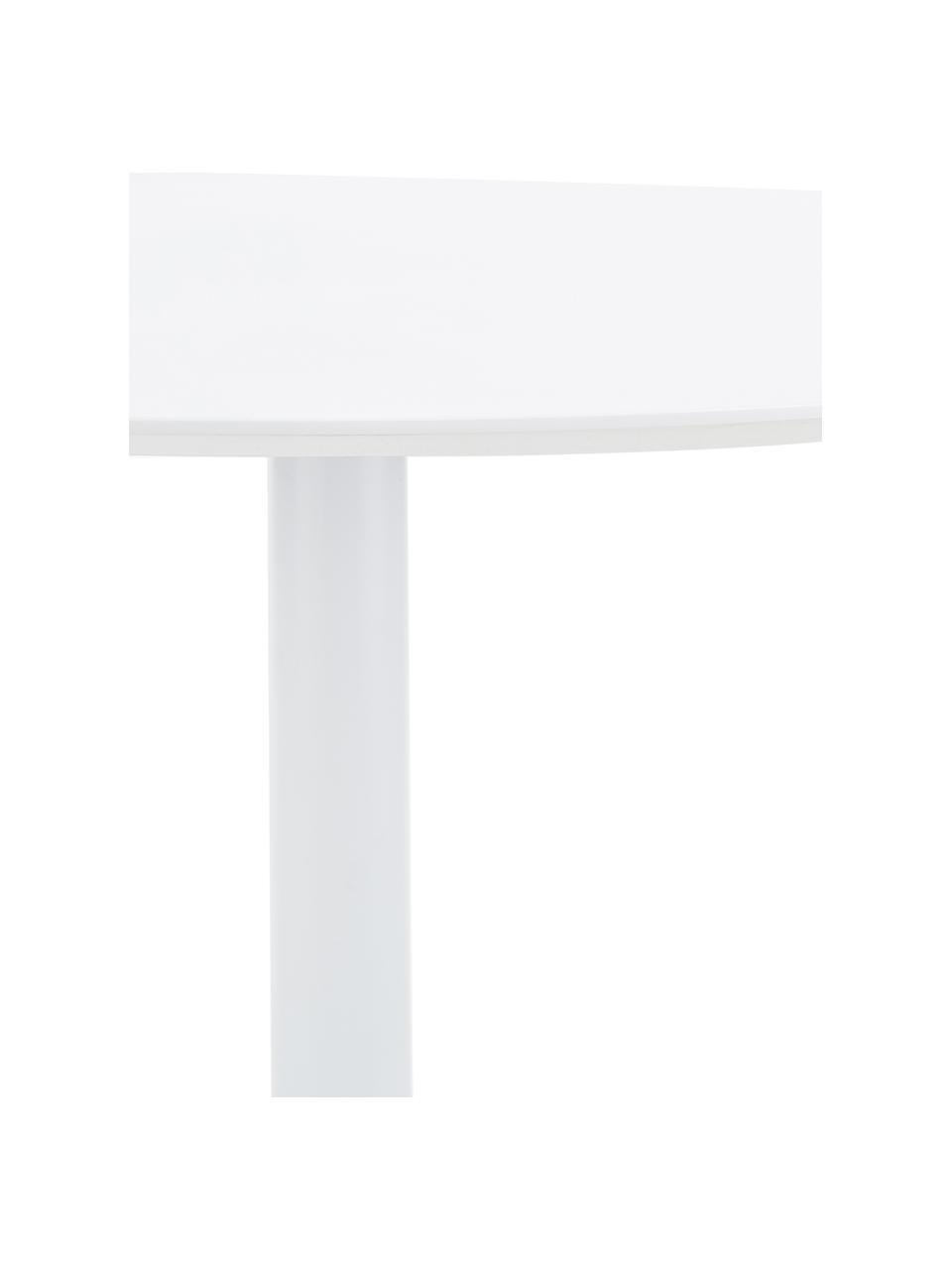 Ronde eettafel Mallorca in wit, Tafelblad: gelakt MDF, Poot: gepoedercoat metaal, Wit, Ø 110 cm