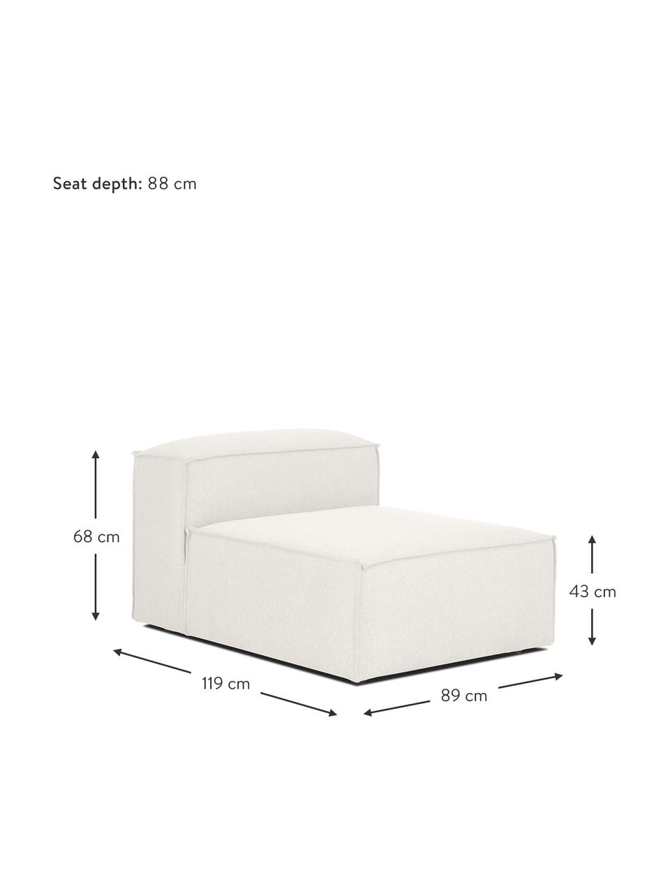 Chauffeuse pour canapé modulable beige Lennon, Tissu beige