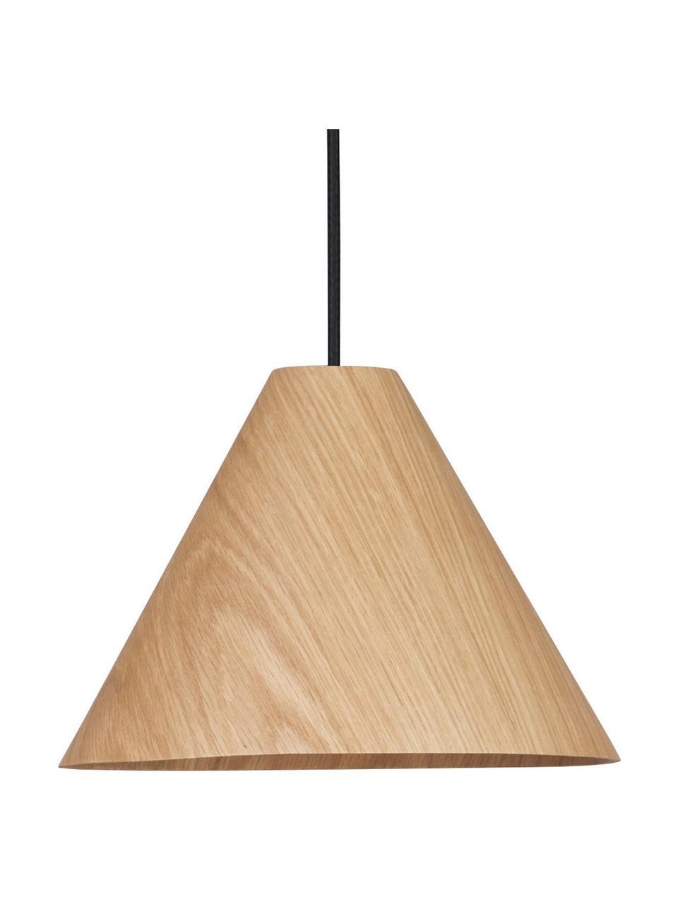 Lampada a sospensione in legno Wera, Paralume: legno, Baldacchino: legno, Legno, nero, Ø 25 x Alt. 17 cm