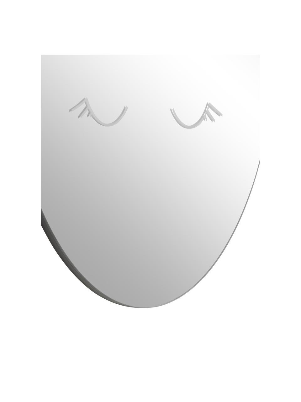 Runder Wandspiegel Ludmila mit schwarzem Rahmen, Rahmen: Mitteldichte Holzfaserpla, Spiegelfläche: Spiegelglas, gehärtet, Rückseite: Mitteldichte Holzfaserpla, Grau, Schwarz, Ø 50 cm