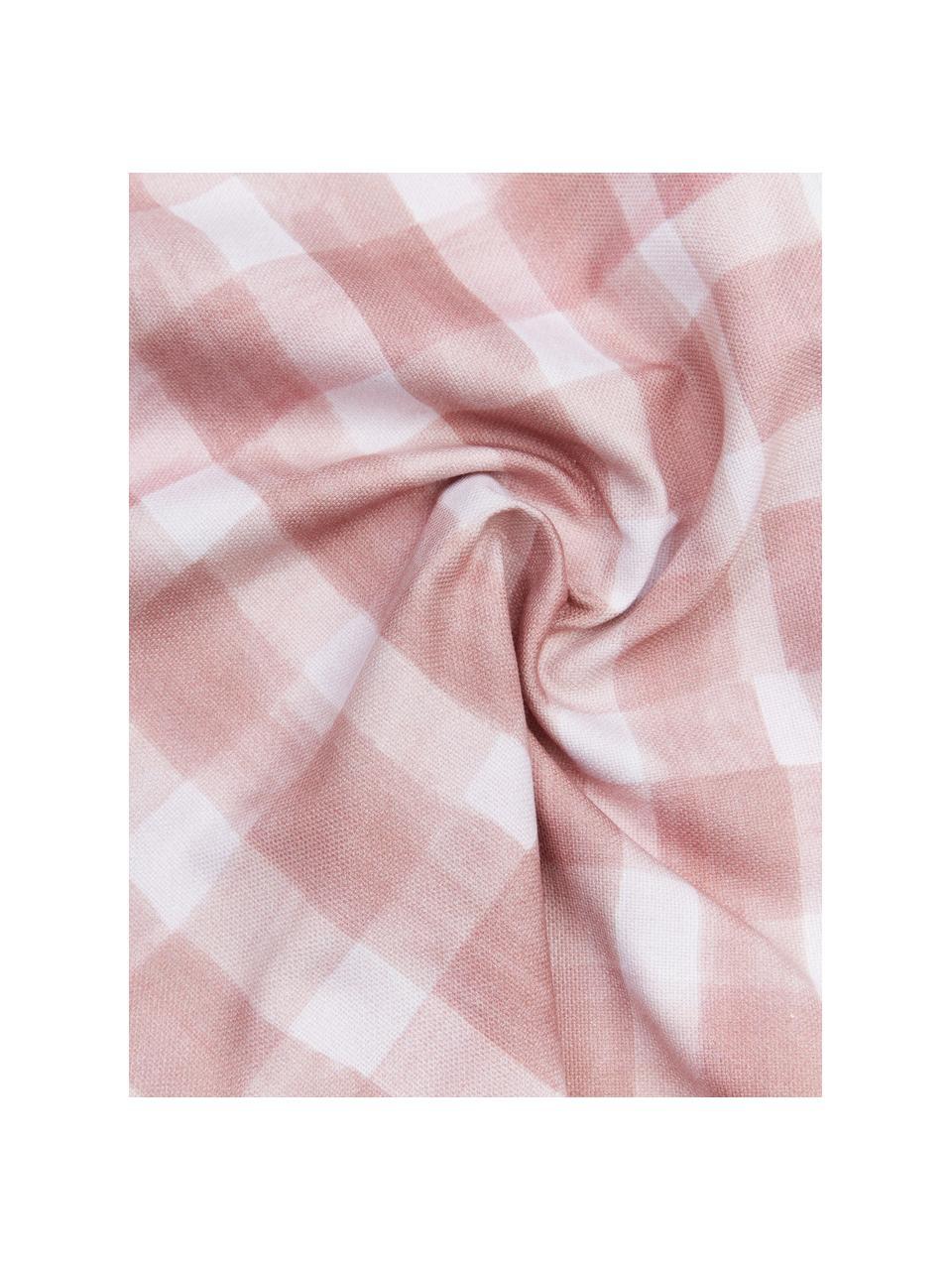 Housse de coussin rectangulaire réversible Check par Candice Gray, Rose