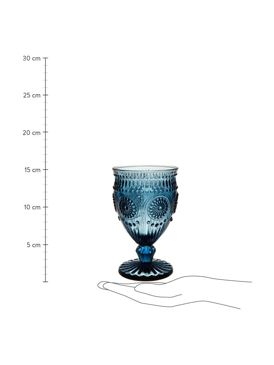 Kieliszek do wina Chambord, 6 szt., Szkło, Niebieski, Ø 9 x W 14 cm