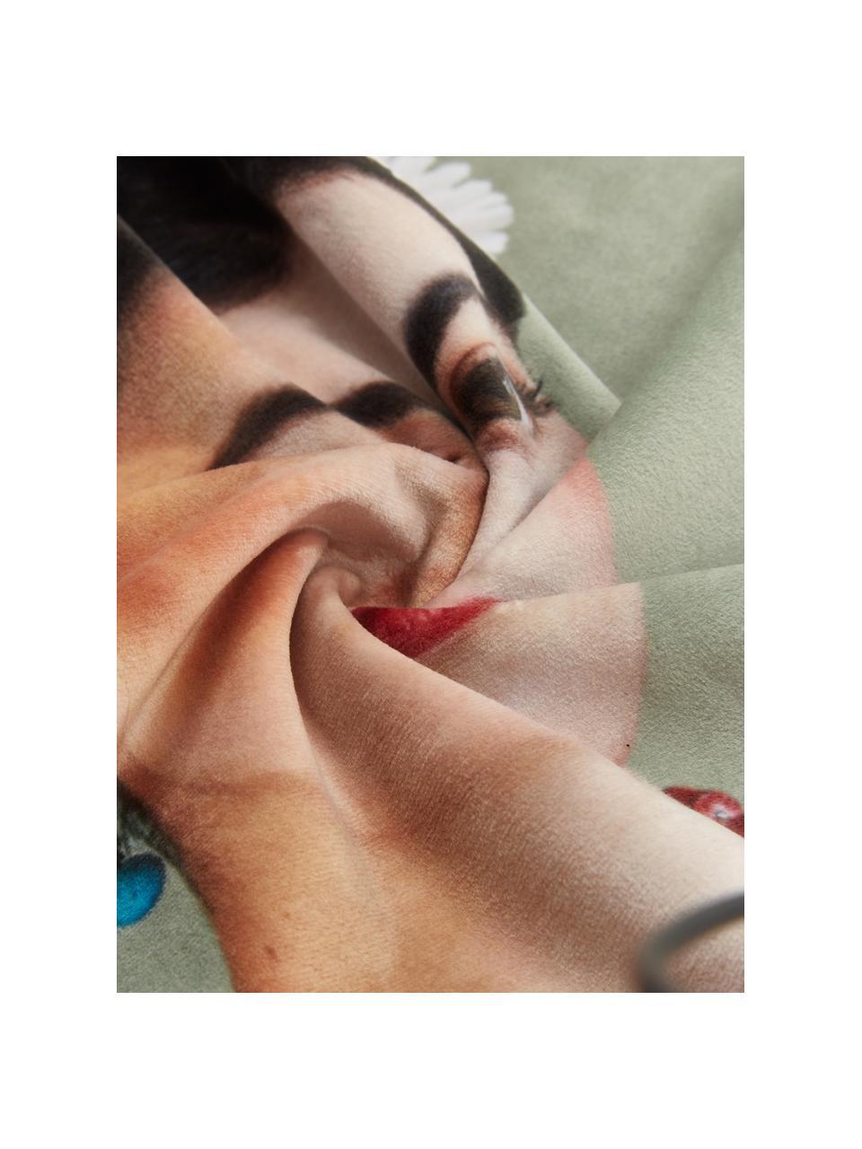 Poszewka na poduszkę z aksamitu Rosanna, 100% aksamit poliestrowy, Miętowy, S 45 x D 45 cm