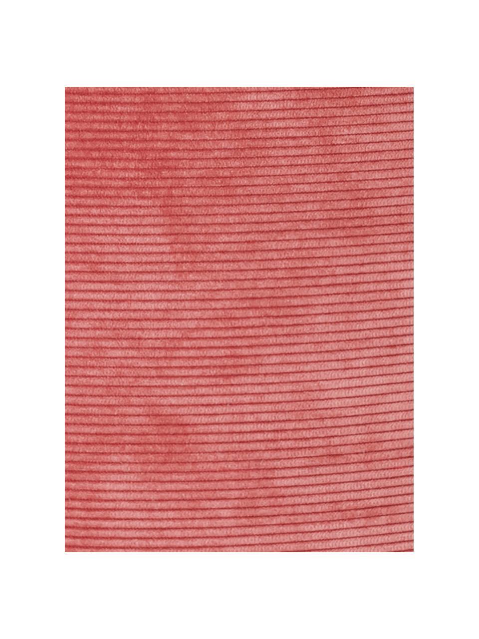 Puf ze sztruksu Cordone, Tapicerka: sztruks (96% poliester, 4, Blady różowy, Ø 50 x W 30 cm