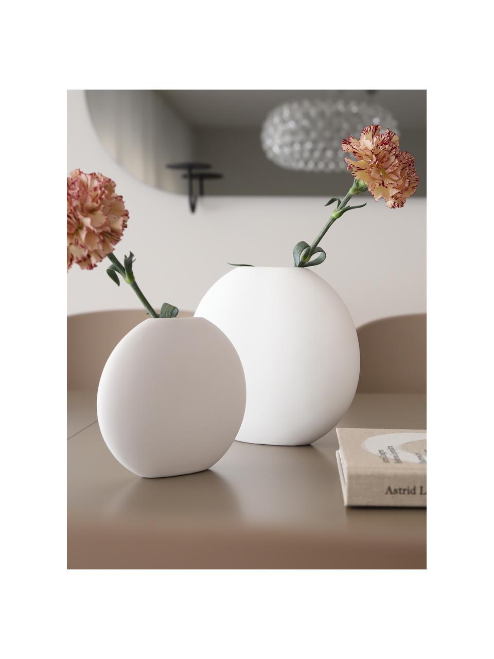 Vase en céramique fait main Pastille, Blanc