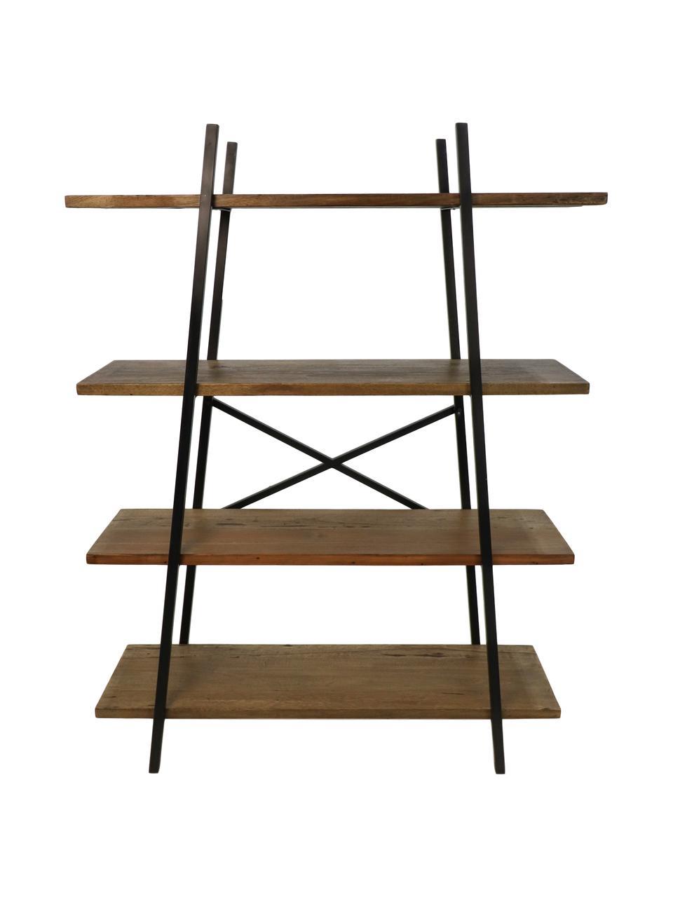 Regał industrial Levin, Stelaż: metal lakierowany, Brązowy, czarny, S 120 x W 160 cm