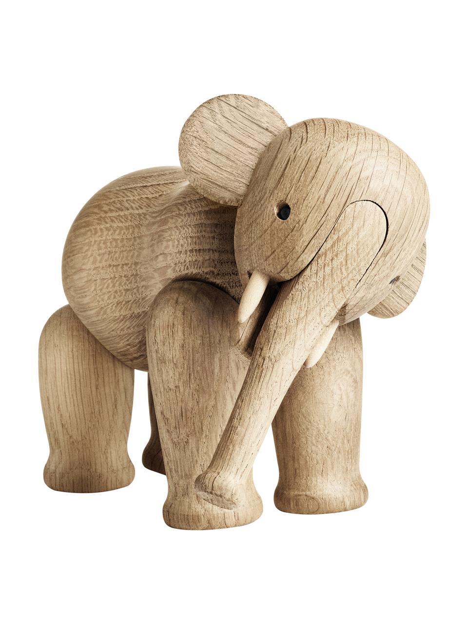 Oggetto decorativo di design Elephant, Legno di quercia verniciato, Legno di quercia, Larg. 17 x Alt. 13 cm