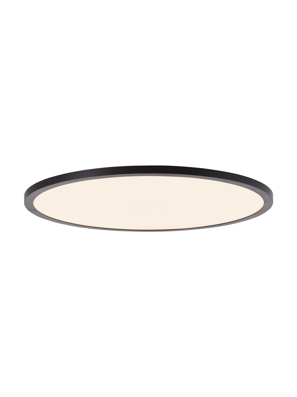 Dimmbares LED-Panel Tuco mit Farbwechsel und Fernbedienung, Lampenschirm: Kunststoff, Diffusorscheibe: Kunststoff, schwarz/weiß, Ø 50 x H 3 cm
