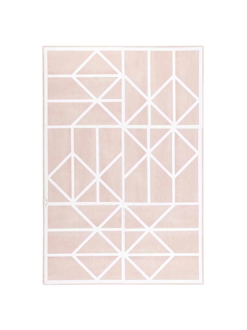 Erweiterbares Spielmatten-Set Nordic, 18-tlg., Schaumstoff (EVAC), schadstofffrei, Rosa, Creme, 120 x 180 cm