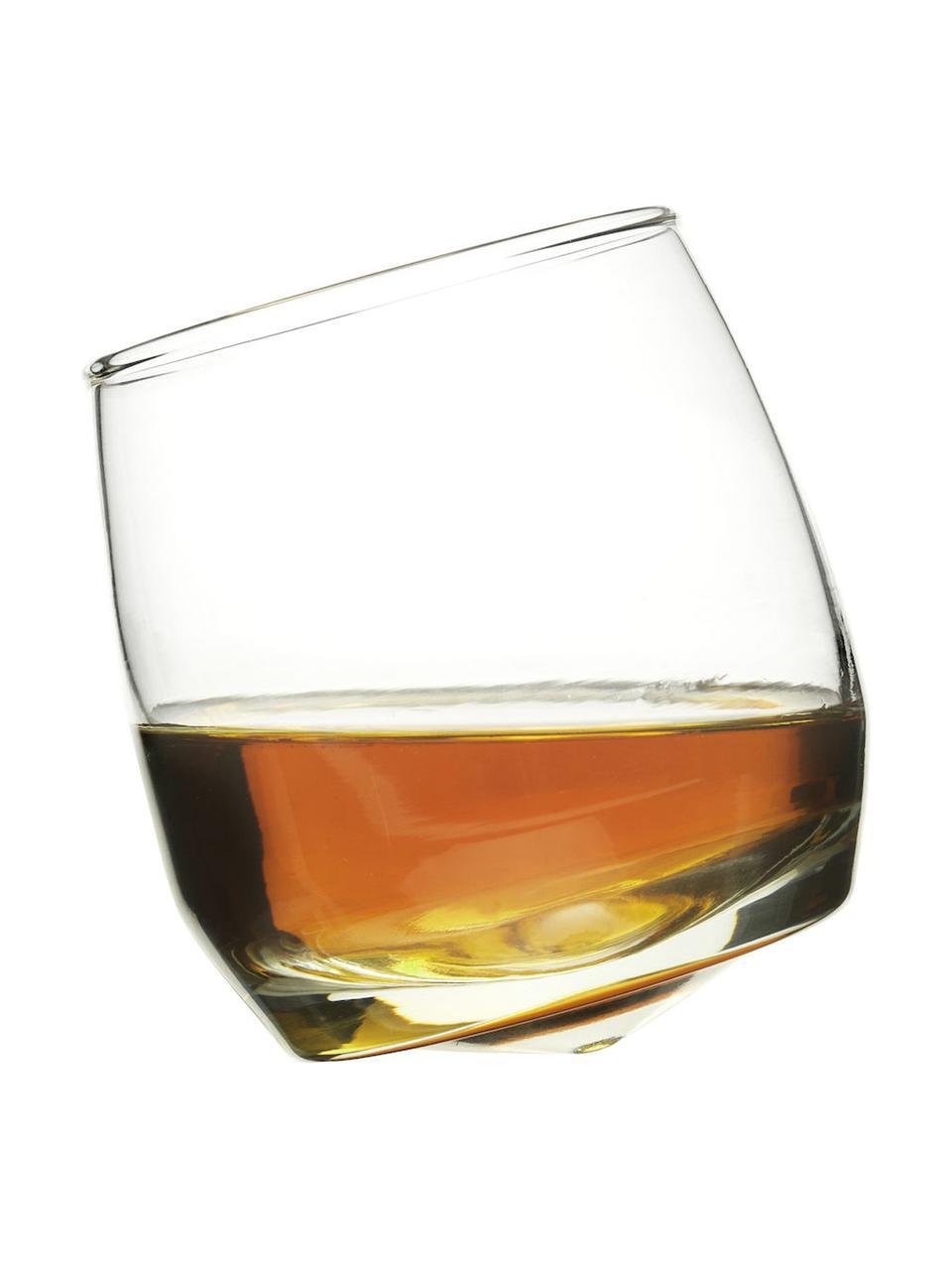Verre à whisky arrondi Rocking, 6pièces, Transparent