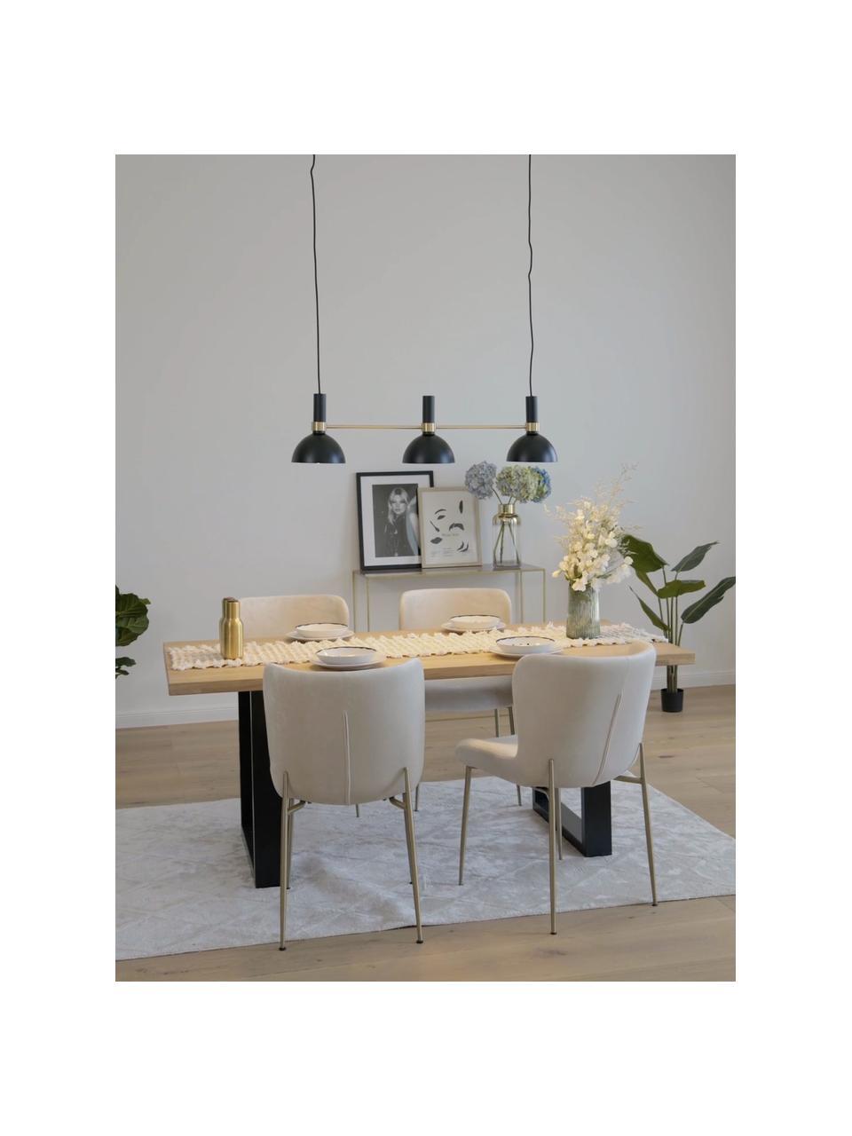 Lampa wisząca Larry, Czarny, mosiądz, S 100 x W 24 cm