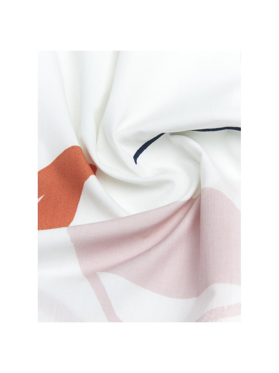 Pościel z perkalu Dazy, Biały, wielobarwny, 240 x 220 cm + 2 poduszki 80 x 80 cm