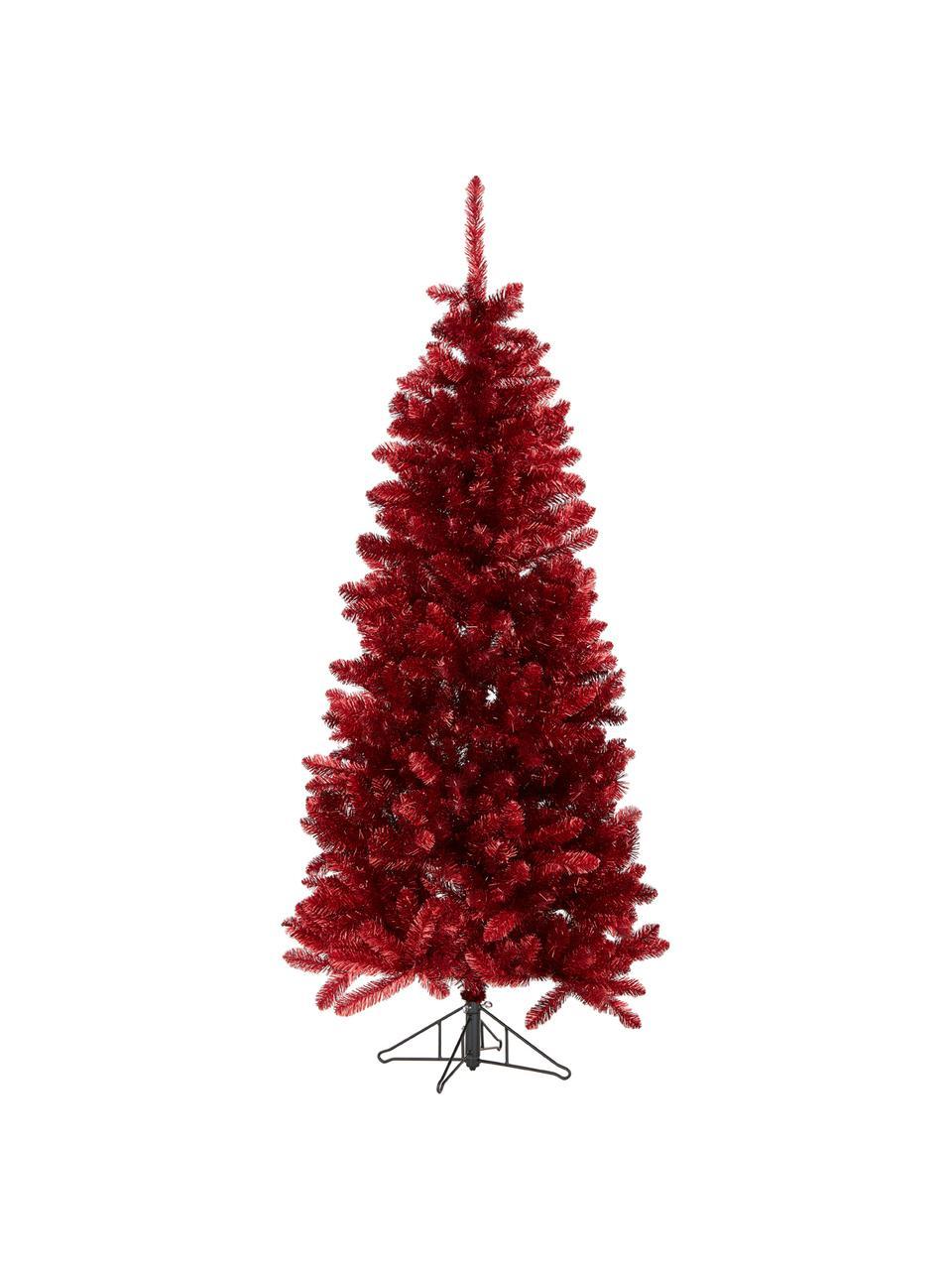 Künstlicher Weihnachtsbaum Colchester in Rot H 185 cm, Kunststoff, Rot, Ø 84 x H 185 cm