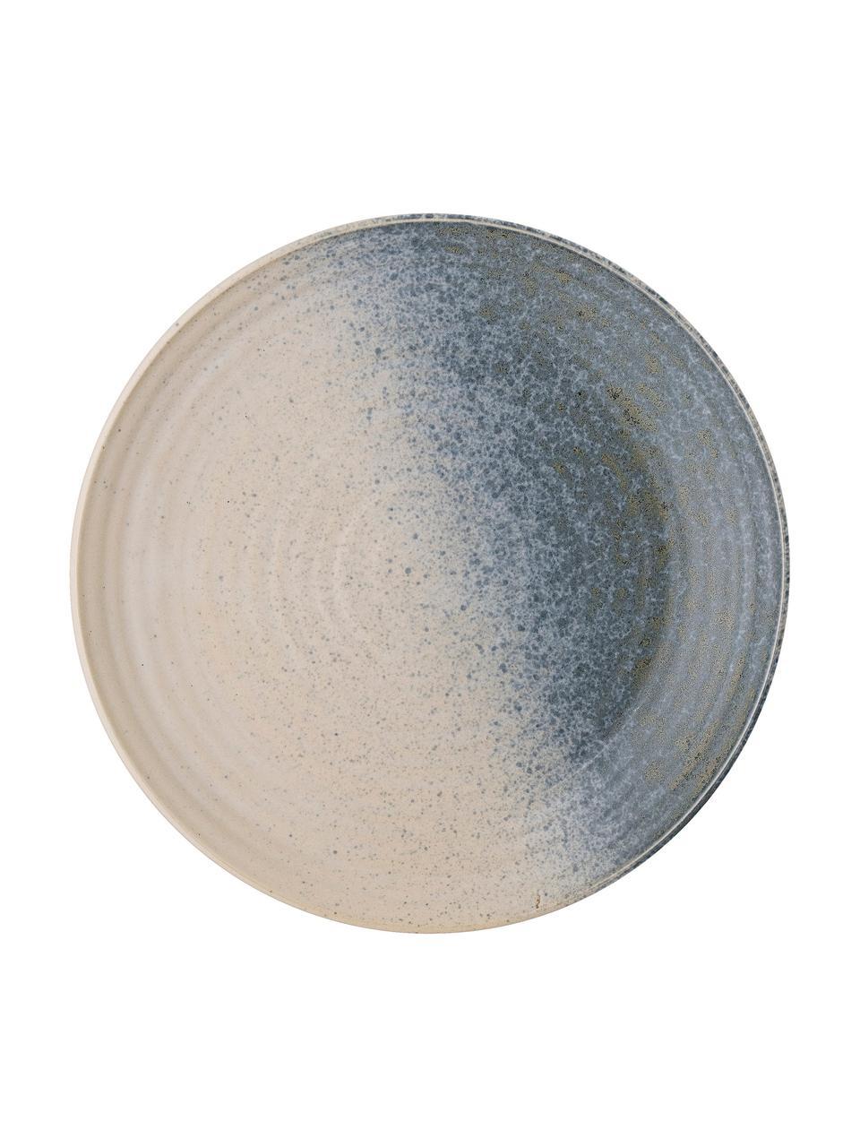 Piatto da dessert in gres fatto a mano Aura, Gres, Blu, beige, verde, Ø 21 cm