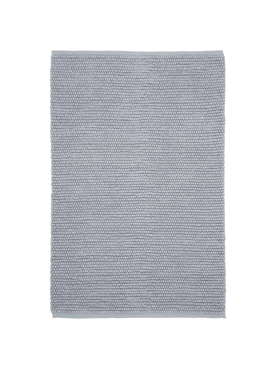 Wollteppich Pebble in Hellgrau, 80% Neuseeländische Wolle, 20% Nylon  Bei Wollteppichen können sich in den ersten Wochen der Nutzung Fasern lösen, dies reduziert sich durch den täglichen Gebrauch und die Flusenbildung geht zurück., Grau, B 80 x L 150 cm (Größe XS)