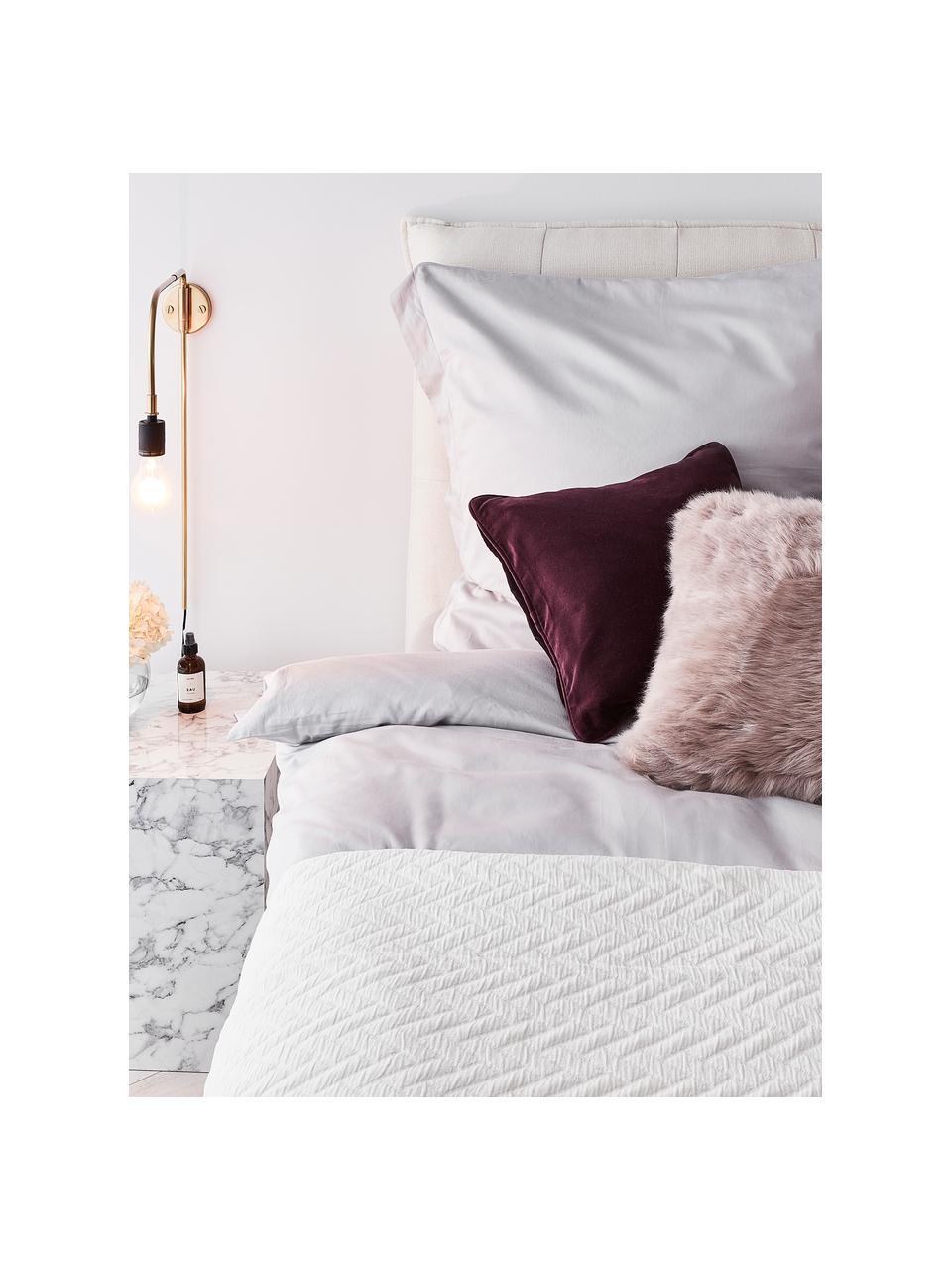 Poszewka na poduszkę z aksamitu Dana, 100% aksamit bawełniany, Wiśniowy, S 40 x D 40 cm