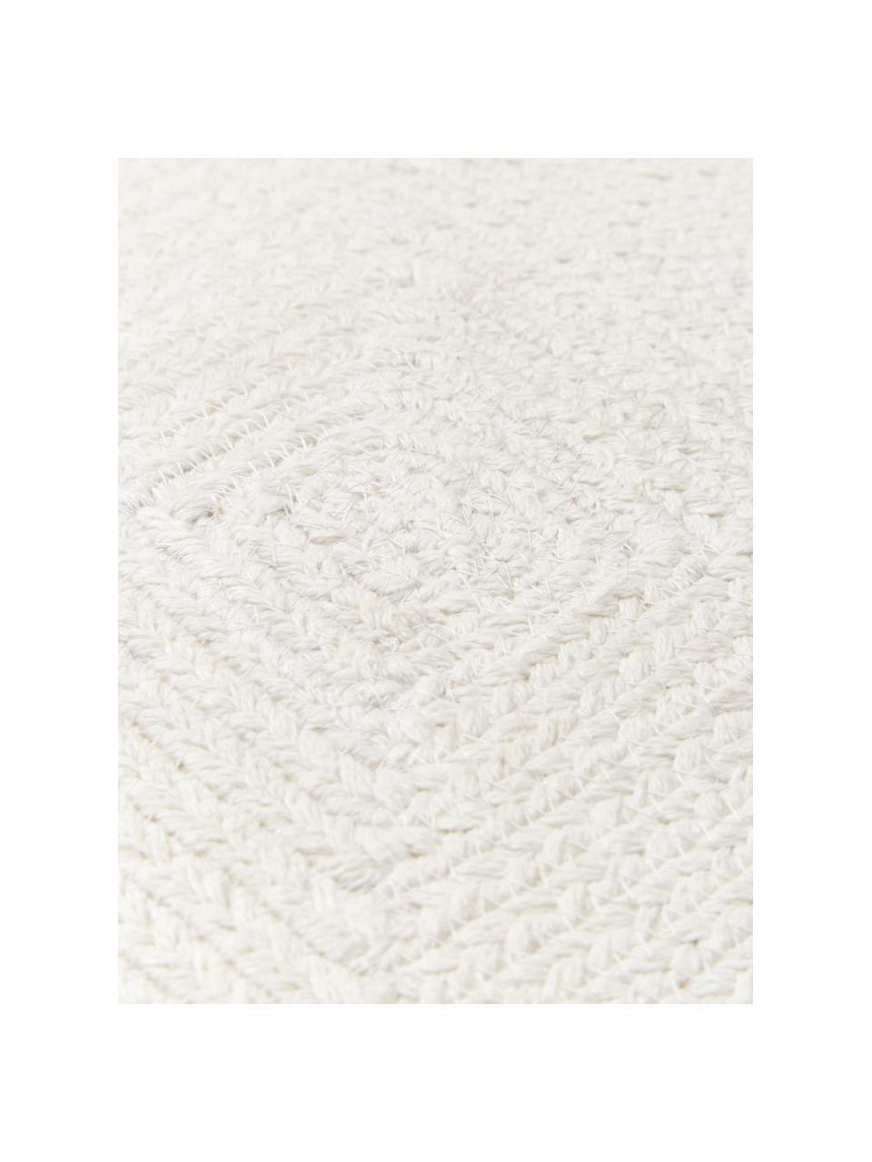 Kissenhülle Justina im Jutelook, 100% Baumwolle, Cremeweiß, 45 x 45 cm