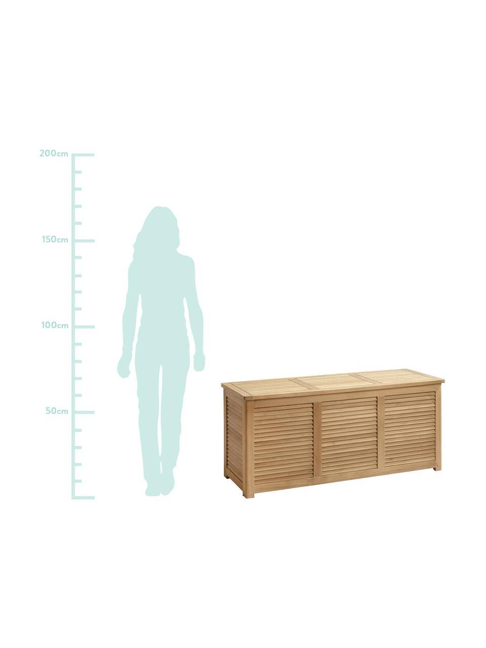Skrzynia do przechowywania z drewna Storage, Drewno tekowe, piaskowane, Drewno tekowe, S 130 x W 60 cm