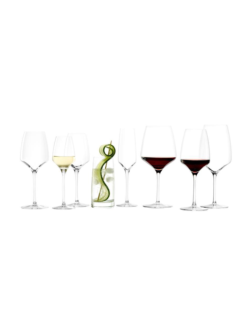 Kristallen witte wijnglazenset Experience, 6-delig, Kristalglas, Transparant, Ø 8 x H 21 cm
