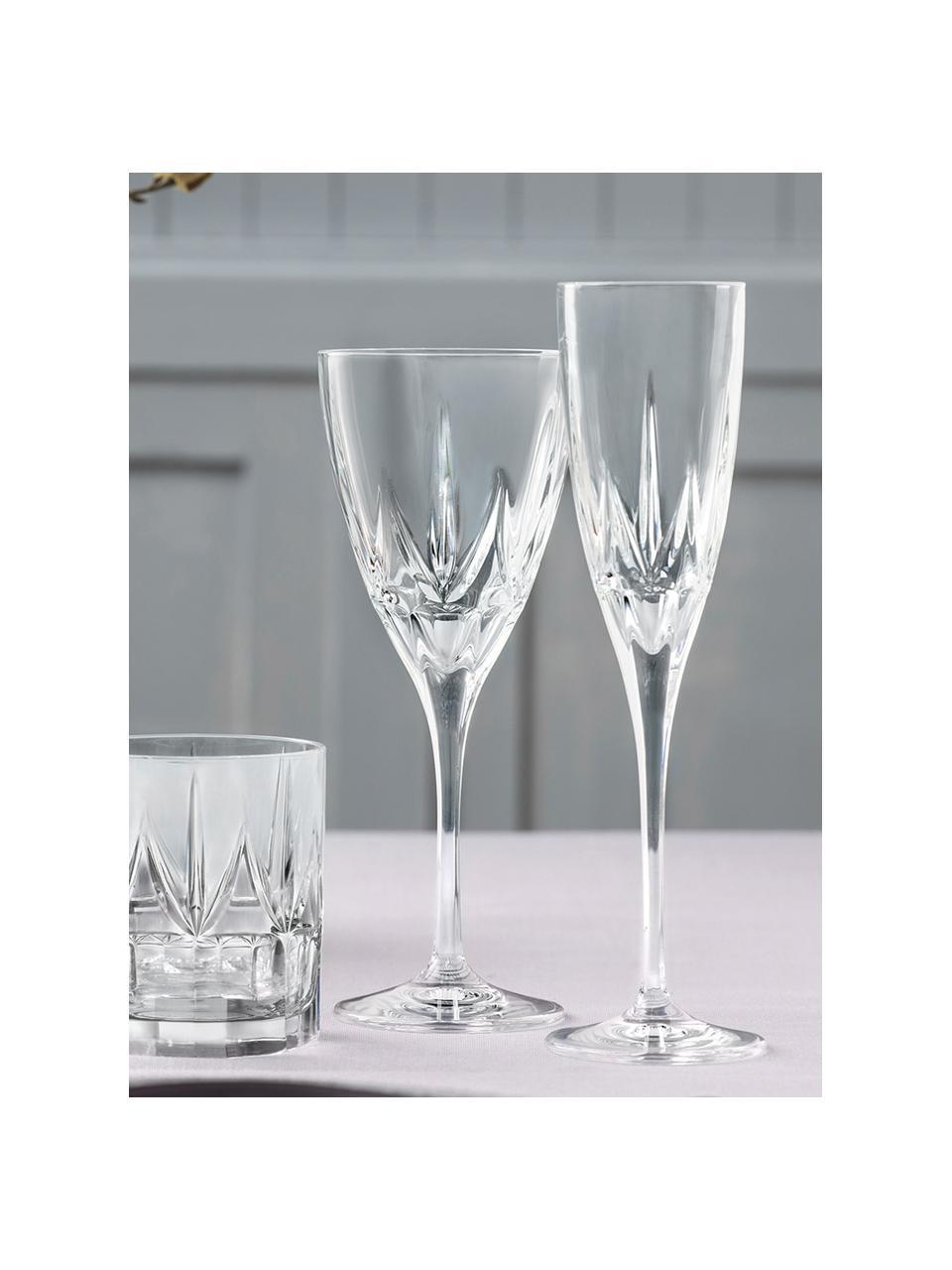 Verre à vin blanc cristalà motifs embossés Chic, 6pièces, Transparent