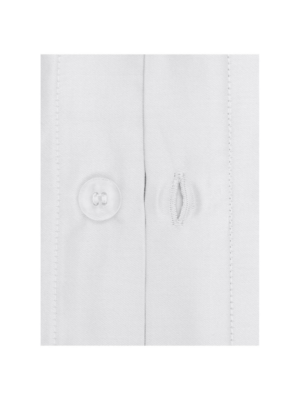 Satin-Kopfkissenbezüge Premium aus Bio-Baumwolle in Hellgrau mit Stehsaum, 2 Stück, Webart: Satin Fadendichte 400 TC,, Hellgrau, 40 x 80 cm