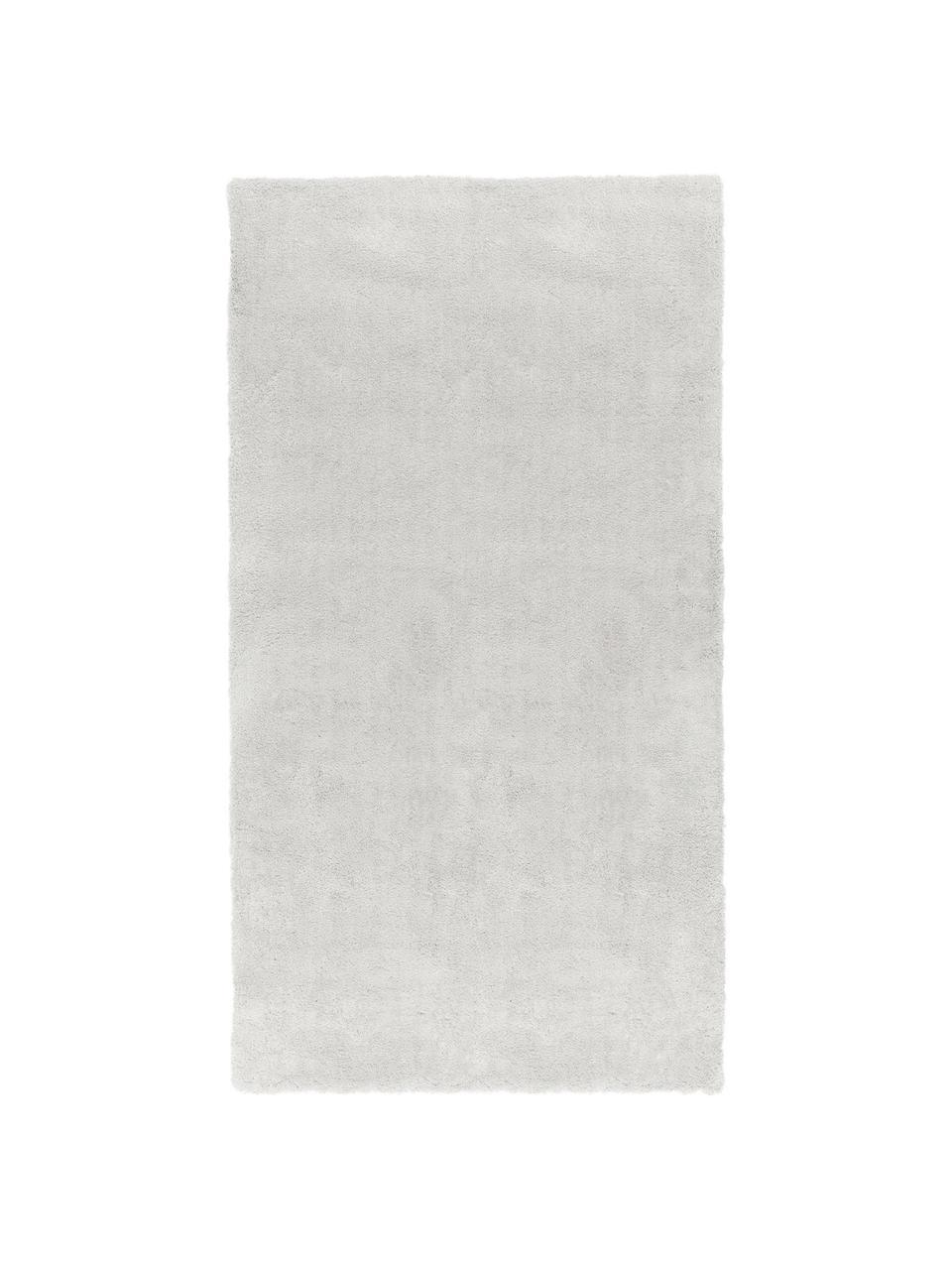 Zacht hoogpolig vloerkleed Leighton in lichtgrijs-beige, Bovenzijde: microvezels (100% polyest, Onderzijde: 70% polyester, 30% katoen, Lichtgrijs-beige, B 200 x L 300 cm (maat L)