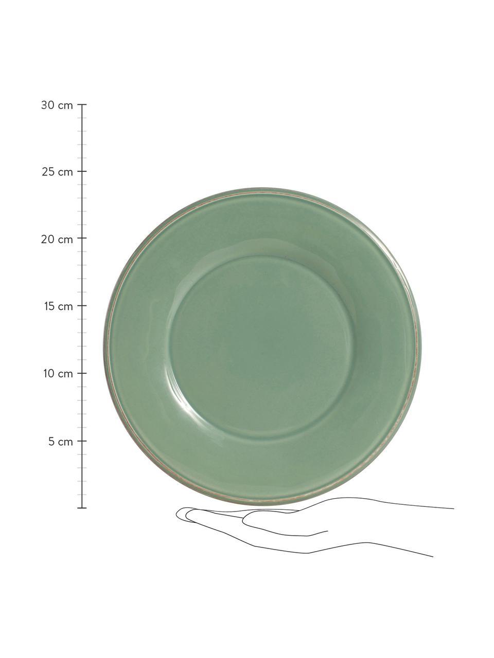Frühstücksteller Constance im Landhaus Style, 2 Stück, Steingut, Salbeigrün, Ø 24 cm