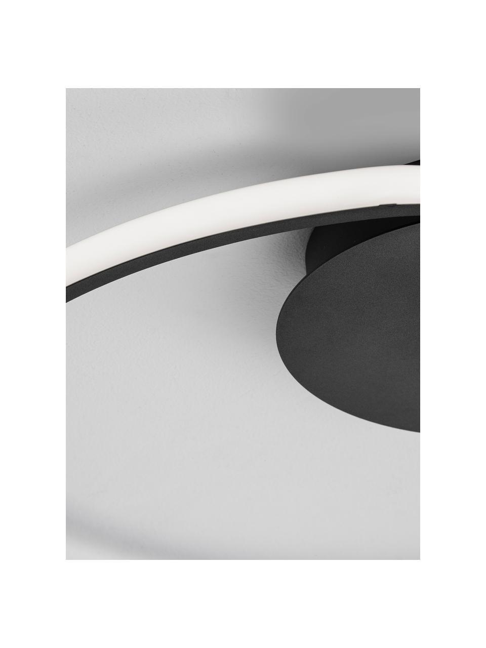 Lampa sufitowa LED z funkcją przyciemniania Fuline, Czarny, Ø 50 x W 5 cm