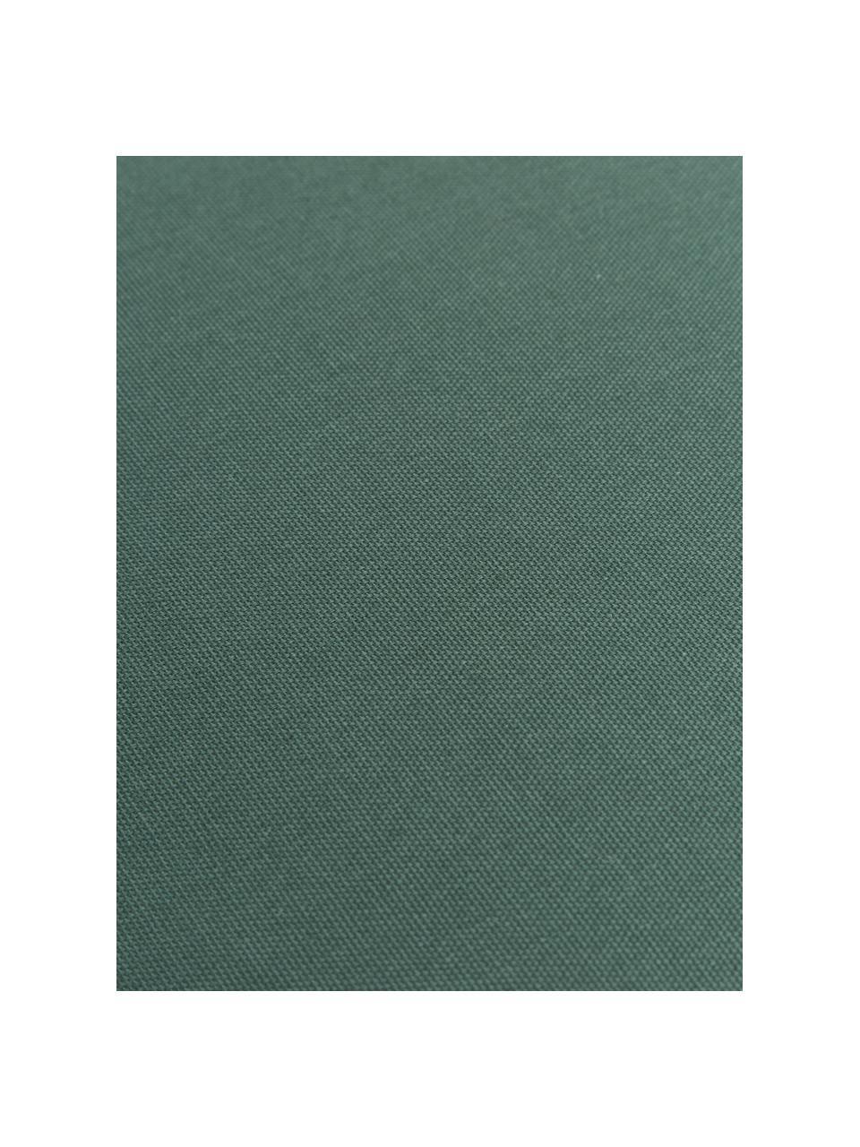 Hohes Sitzkissen Zoey in Dunkelgrün, Bezug: 100% Baumwolle, Grün, 40 x 40 cm