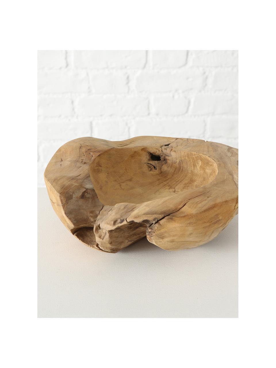 Deko-Schale Teak, Teakholz, Braun, Ø 30 x H 9 cm