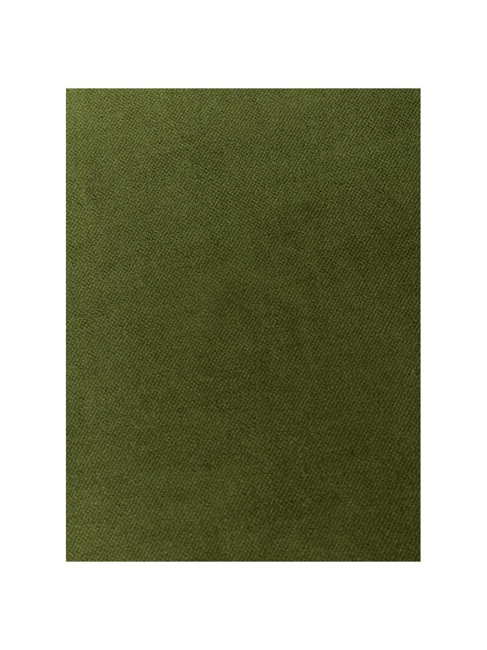 Housse de coussin velours vert mousse Dana, Vert mousse