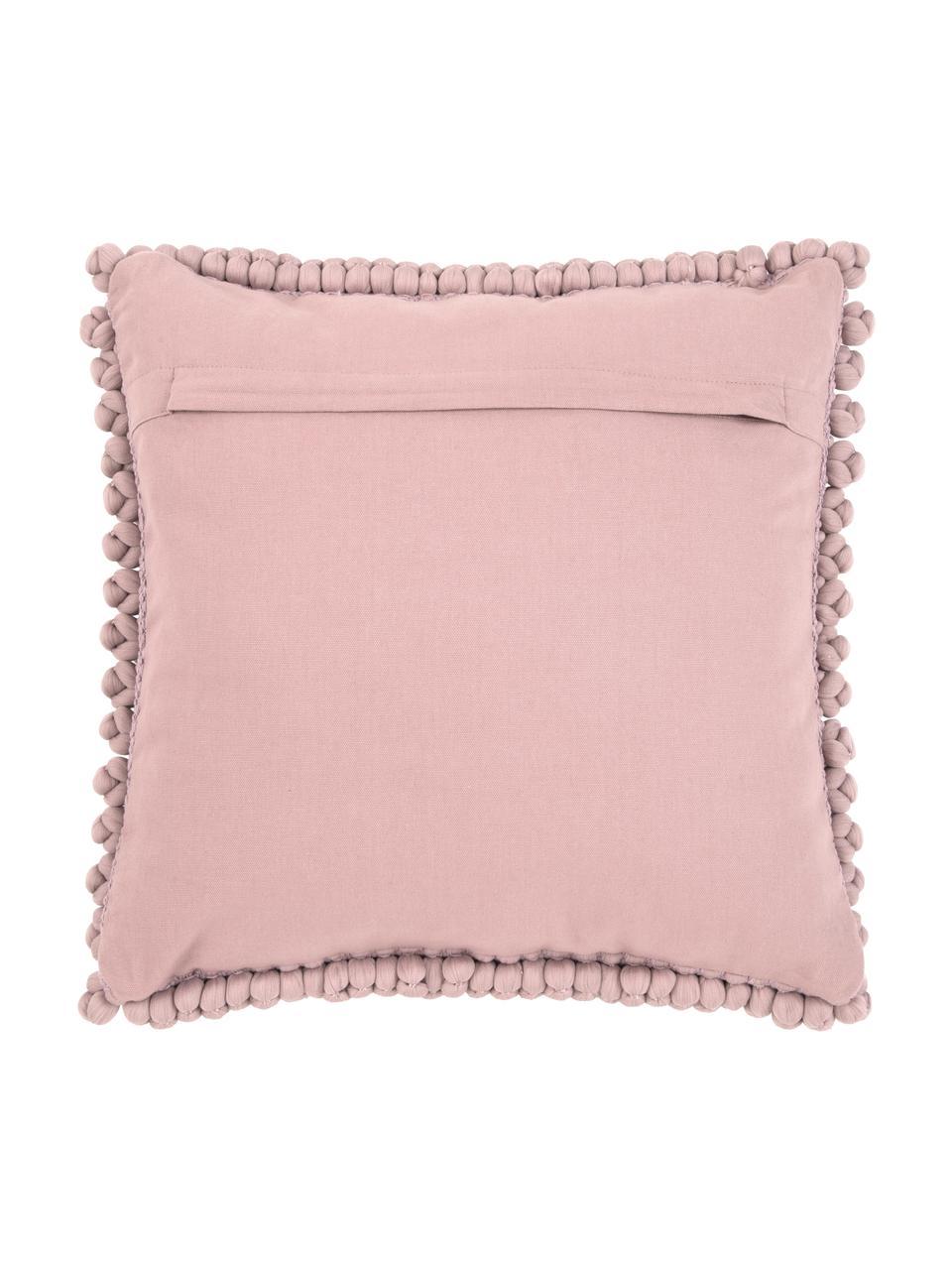 Federa arredo color rosa cipria Iona, Retro: cotone, Rosa cipria, Larg. 45 x Lung. 45 cm