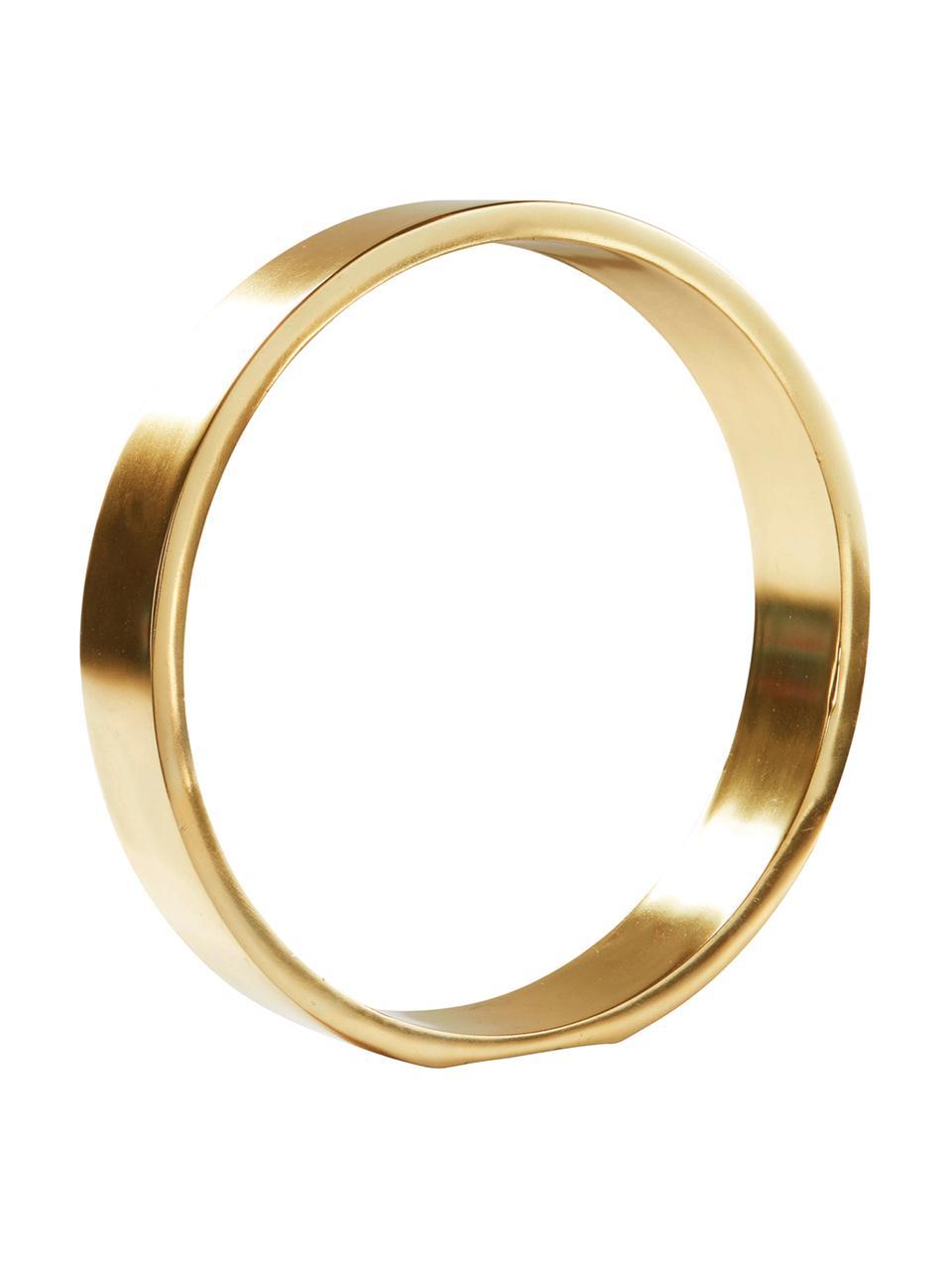 Dekoracja The Ring, Metal powlekany, Odcienie złotego, Ø 25 x W 25 cm