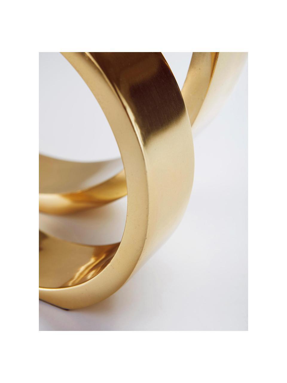 Deko-Objekt The Ring, Metall, beschichtet, Goldfarben, Ø 25 x H 25 cm