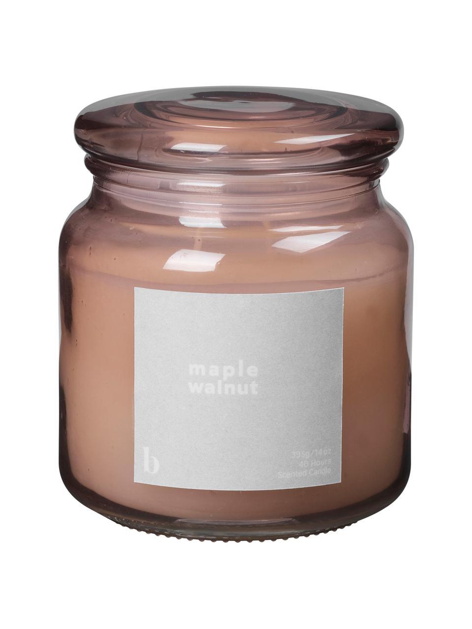 Candela profumata Maple Walnut (noce), Contenitore: vetro, Rosa cipria, Ø 10 x Alt. 12 cm