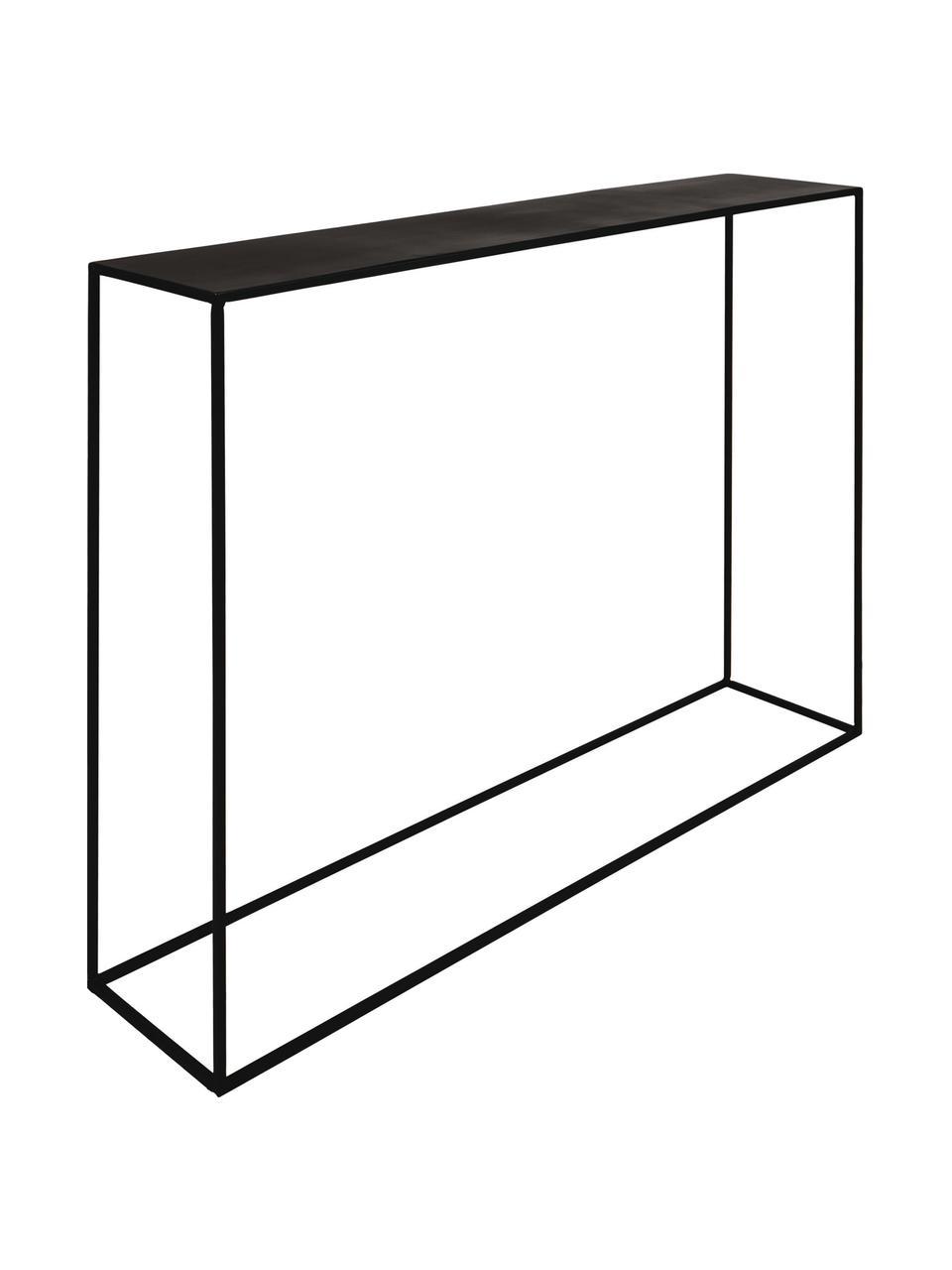 Metalen sidetable Expo in zwart, Gepoedercoat metaal, Zwart, B 110 x D 25 cm