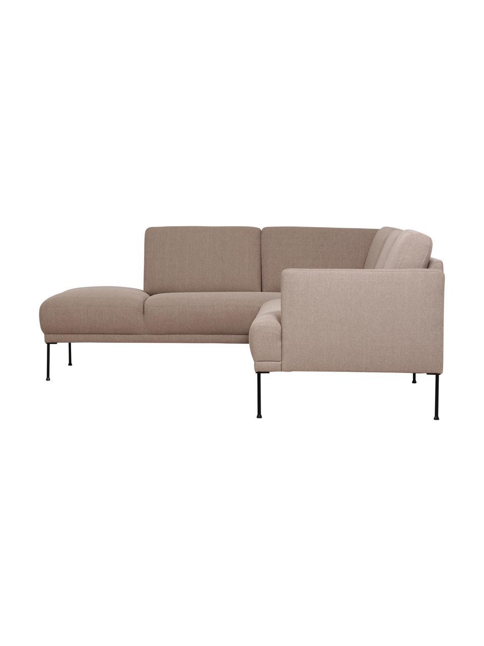 Canapé d'angle taupe avec pieds en métal Fluente, Taupe
