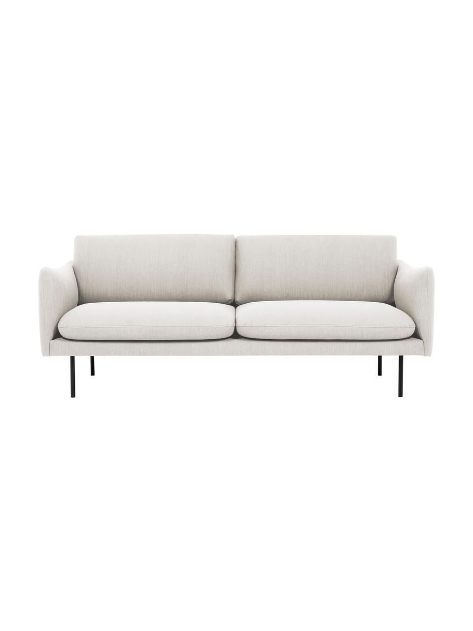 Sofa Moby (2-Sitzer) in Beige mit Metall-Füßen, Bezug: Polyester Der hochwertige, Gestell: Massives Kiefernholz, Füße: Metall, pulverbeschichtet, Webstoff Beige, B 170 x T 95 cm