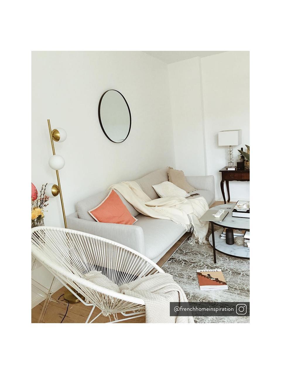 Bank Moby (2-zits) in beige met metalen poten, Bekleding: polyester, Frame: massief grenenhout, Poten: gepoedercoat metaal, Geweven stof beige, B 170 x D 95 cm